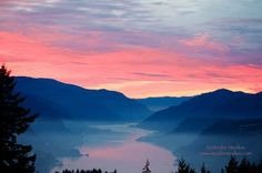Spectacular January sunset in the Columbia River Gorge Photo Credit- Linda Steider