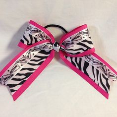 #bows #bjsbowbows #cheerbow #cheerleader #pinkzebra #zebra #hairbow #bow