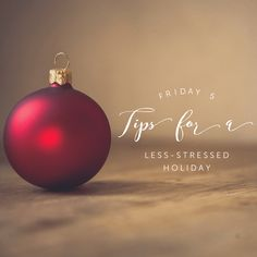 5 Tips For a Less-Stressed Holiday | Friday Five Live Episode