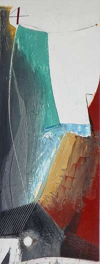 Mathew Lanyon - Bosigran IX oil on board