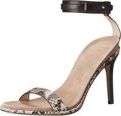Cole Haan womens cyro dress sandal black roccia snake print