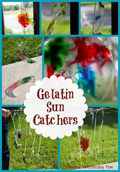 Gelatin Sun Catchers Kids Craft | Enchanted Homeschooling Mom | Enchanted Homeschooling Mom