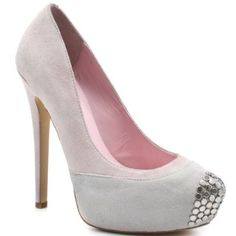 Add some zest to your regular go-to pump style with this heel from Penny Loves Kenny. Tetra brings you a light pink and cream suede upper with silver studs at the vamp. This pump is complete with a 4 inch heel and 1 inch platform. Pink Shoes, White Shoes, Fashion Shoes, Fashion Accessories, Wedding Heels, 4 Inch Heels, Dream Shoes, Diamond Are A Girls Best Friend, Sexy Feet