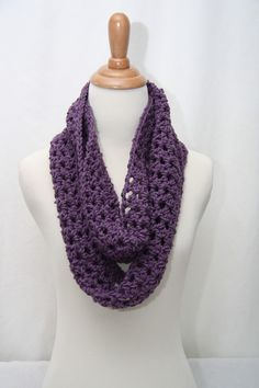 How To Crochet A Scarf | ... Infinity Cowl Neck Scarf by HandmadeByLarrie Cowl Neck Scarves Crochet