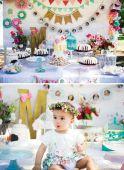 spring flowers dessert table