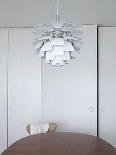White classic beauty. Artichoke lamp.