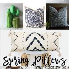 Decorating Bohemian: Spring 2017 Favorite Pillows and Throws