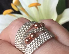 Swarovski Crystal Ring Swarovski Ring unique by CovetAndDesire