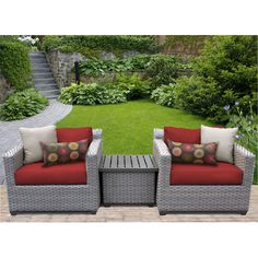 Found it at Wayfair - Florence 3 Piece Lounge Seating Group Set with Cushion