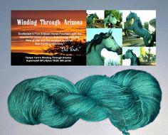 "June colorway for ""Winding Through Arizona"" sock yarn club ""Old Town"""