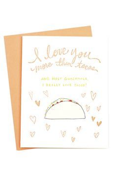 Tacos Card | So into this love card. mooreaseal.com