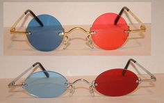 Standard Red and Blue 3D Oval or Circle glasses.. $20.00, via Etsy.