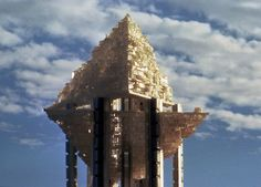Paolo Soleri, Hexahedron Arcology, photo via Arcosanti Foundation - architektur Arcology, Lebbeus Woods, Tower Building, Walled City, Well Thought Out, Urban Life, Built Environment, Retro Futurism, Architecture Design