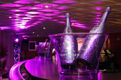 Taittinger Nocturne champagne. With this purple piece of art you'll sparkle at every party!