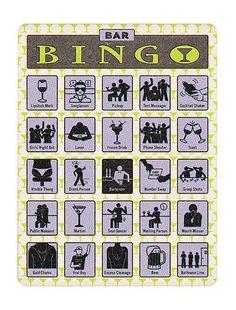 bar crawl bingo