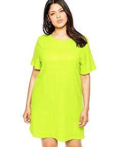 Solid Shift Dress - www.theteelieblog.com Put on that needed pop of color in your everyday wardrobe. #plussize