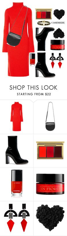 """""""Cashmere Turtleneck Dress"""" by prettynposh2 ❤ liked on Polyvore featuring The Row, Givenchy, Oscar Tiye, MAC Cosmetics, Chanel, In Fiore, Toolally, ankle and cashmere"""