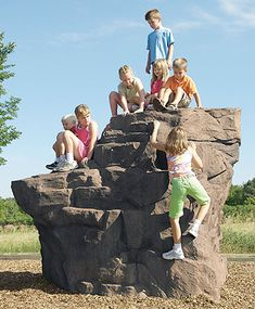The Pinnacle natural climber by Landscape Structures offers natural climbing fun on the playground for lots of kids and it can be attached to a PlayBooster playstructure. Toddler Playground, Preschool Playground, Playground Set, Playground Design, Backyard Playground, Outdoor Play Structures, Outdoor Play Areas, Outdoor Toys, Outdoor Games