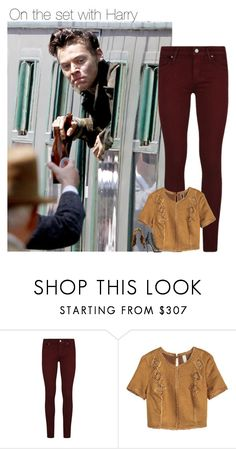 """on the set with Harry"" by sexyirishman ❤ liked on Polyvore featuring Paige Denim, Dsquared2, harrystyles, likeforlike and onedirectionoutfits"
