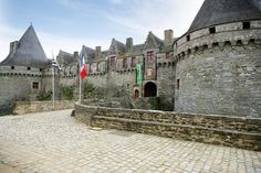 The wonderful old medieval chateau at Pontivy in Brittany. Well worth a visit if you are staying in the area