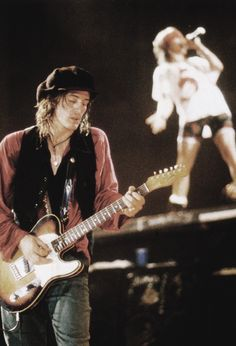 Izzy Stradlin and Axl Rose. Guns N' Roses co-founders
