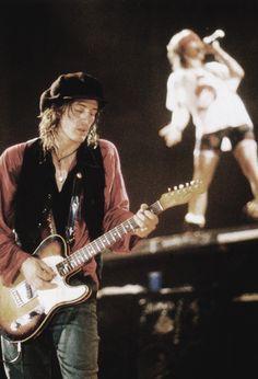 Izzy Stradlin and Axl Rose. Guns N' Roses co-founders