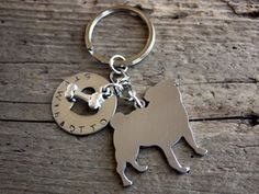 This stainless-steel dog-breed keychain gets to go for a ride in the car every time! ($16)