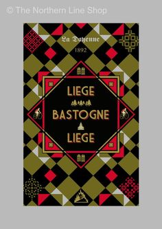 Liegi-Bastogne-Liegi [The Monuments - Original graphic poster art designed in The Northern Line studio in Ulverston, Cumbria] (thenorthernline.co.uk)