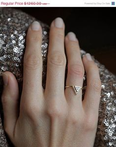 Valentines discount Diamond Engagement Ring With Pave por capucinne