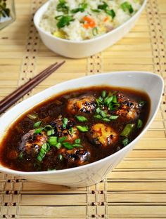 Veg manchurian gravy, popular indo chinese side dish for fried rice,noodles! Recipe @ http://cookclickndevour.com/veg-manchurian-gravy-recipe #cookclickndevour #streetfood #recipeoftheday