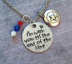I'm With You Til The End Of The Line V2 Necklace - Superhero Jewelry - Avenger Jewelry - Steve Rogers Inspired Jewelry - Fandom Jewelry