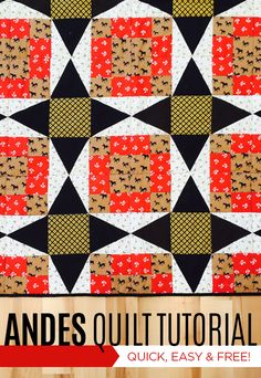 Make the Andes Quilt with Jenny Doan and Mary Fons! Free Tutorial!