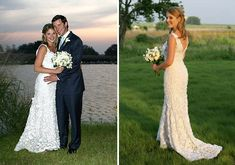 Jenna Bush wore a custom Oscar de la Renta wedding gown when she married Henry Hager in Crawford, Texas. The dress was made of embroidered organza and had matte beading and a small train. See photos of the First Daughter's Texas nuptials.   Photo: The White House