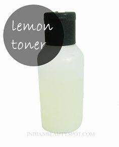 lemon toner DIY