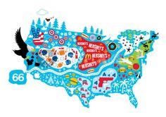 """""""America"""" Grafik/Illustration als Poster und Kunstdruck von Emma Barratt bestellen. - ARTFLAKES.COM"""