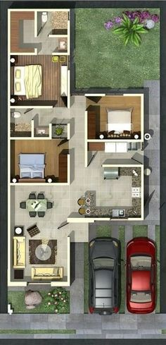 New house plans tiny homes design 25 Ideas Tree House Plans, House Layout Plans, Bedroom House Plans, Small House Plans, House Layouts, House Floor Plans, Bungalow Floor Plans, Sims House Design, Small House Design