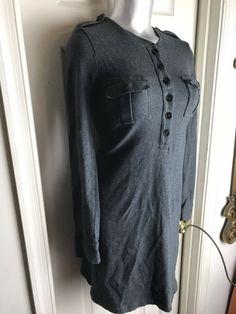 J. CREW Shutterbug Dress In Gray  Womens Size XS  L/S- 100% COTTON - Grey Dresses - Ideas of Grey Dresses #GreyDresses Grey Dresses, Cotton Dresses, J Crew, Honey, Gray, Ideas, Fashion, Moda, Fashion Styles