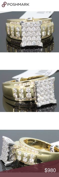 Gorgeous 1.75 carat 10k yellow gold diamond ring Gorgeous 1.75 carat 10k yellow gold diamond ring Jewelry Rings