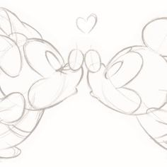 Disney card – Minnie-and-Mickey-mouse-giving-a-kiss Disney kaart – minnie-en-mickey-mouse-geven-een-kus – Disney Crafts Ideas Minnie Mouse Drawing, Mickey Mouse Drawings, Disney Drawings Sketches, Cute Disney Drawings, Love Drawings, Doodle Drawings, Drawing Sketches, Mickey Mouse Sketch, Drawing Disney
