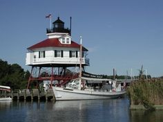 Blackistone Lighthouse, sits on St. Clement's Island, the birthplace of Maryland.