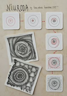 So simple, yet beautiful. And the variations! AKUA-ART Niuroda by Tina - aka Hunziker, Certified Zentangle Teacher