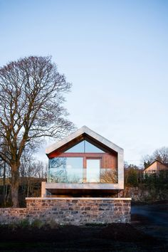 Image 7 of 18 from gallery of Loughloughan Barn / McGarry-Moon Architects. Courtesy of McGarry-Moon Architects Residential Architecture, Modern Architecture, Stone Barns, Modern Barn, Small House Design, Prefab, Cozy House, Steel Frame, Exterior Design
