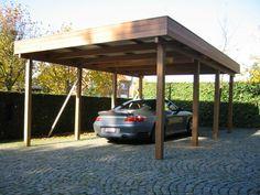 Moderne Carports design metall carport aus stahl holz mit abstellraum wien österreich