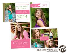 Fresh Grad Announcements by Amy Kant for @Two Pear Designs