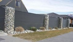 Hmmm, these gabion pillars could look cool with wood