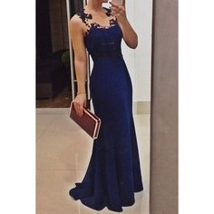 Sexy Scoop Neck Solid Color Sleeveless Women's Maxi Dress