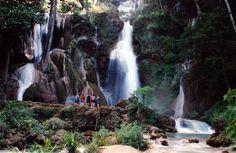 Kuang Si Falls near Luang Prabang in Laos by tripletrouble