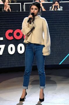5 Selena Gomez Outfits You Can Actually Afford — And Where to Buy Them 5 Selena Gomez Outfits You Can Actually Afford — And Where to Buy Them,Style selena gomez style steal fashion outfit. Selena Gomez Fashion, Mode Selena Gomez, Style Selena Gomez, Selena Gomez Fotos, Selena Gomez Outfits Casual, Selena Gomez Jeans, Selena Gomez Clothes, Selena Gomez Weight, Selena Gomez Dress