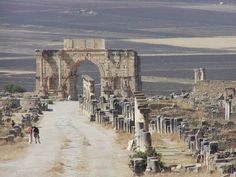 Volubilis (Arabic: وليلي Walīlī) is a partly excavated Roman city in Morocco situated near Meknes between Fes and Rabat. Volubilis, Pictures Of Beautiful Places, Site Archéologique, Roman City, Archaeological Discoveries, Hiking Tours, Morocco Travel, Lost City, North Africa