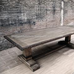 Rustic Trestle Dining Table - Foter